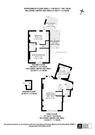 Large floorplan for Damer Terrace, Chelsea, SW10