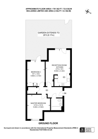 Large floorplan for Biggerstaff Street, Finsbury Park, N4