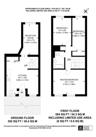 Large floorplan for Marlborough Avenue, E8, London Fields, E8