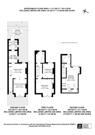 Large floorplan for George Road, New Malden, KT3