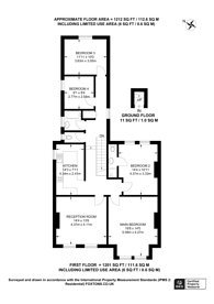 Large floorplan for South Croxted Road, West Dulwich, SE21