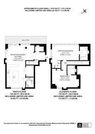 Large floorplan for Central Avenue, Sands End, SW6