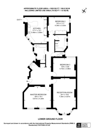 Large floorplan for Bramham Gardens, South Kensington, SW5