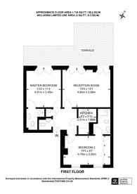 Large floorplan for Queens Gate Terrace, Kensington, SW7