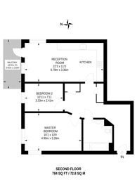 Large floorplan for Acre Lane, Brixton, SW2