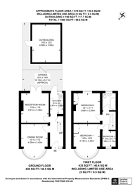 Large floorplan for Lancelot Crescent, Wembley, HA0