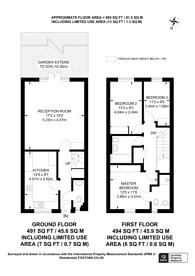 Large floorplan for Guildersfield Road, Streatham Common, SW16