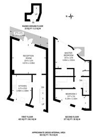 Large floorplan for Broadley Terrace, Lisson Grove, NW1