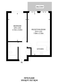 Large floorplan for Windward Court, Gallions Reach, E16