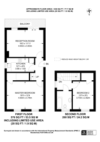 Large floorplan for Palace Road, Crystal Palace, SE19
