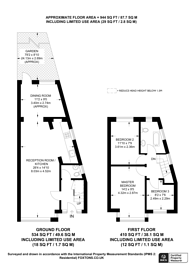 Large floorplan for Hurstcourt Road, Sutton Common, SM1