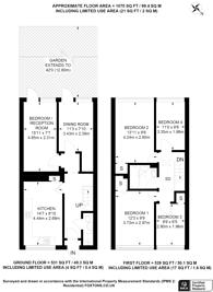Large floorplan for Cassland Road, E9, Victoria Park, E9