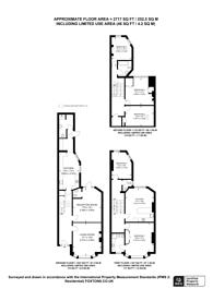 Large floorplan for Northfield Road, Stamford Hill, N16