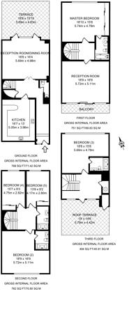 Large floorplan for Porchester Place, Hyde Park Estate, W2