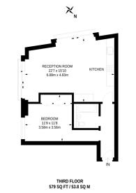 Large floorplan for Roger street, Bloomsbury, WC1N