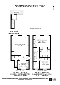 Large floorplan for Queens Gardens, Lancaster Gate, W2