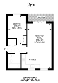 Large floorplan for Newham Way, Beckton, E6