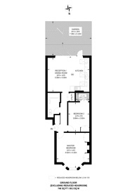 Large floorplan for Birkbeck Avenue, Acton, W3