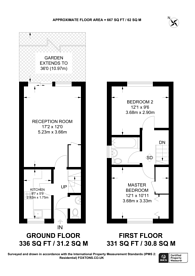 Large floorplan for Earl Close, Friern Barnet, N11