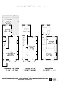 Large floorplan for Ashmore Road, Maida Vale, W9