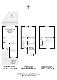 Large floorplan for Bartlett Close, E14, Tower Hamlets, E14