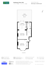 Large floorplan for Raddington Road, Portobello, W10