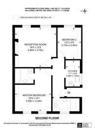 Large floorplan for Duke Road, Chiswick, W4