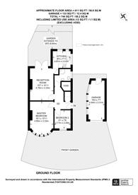 Large floorplan for Whitton Waye, Hounslow, TW3