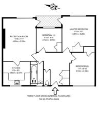 Large floorplan for Sewardstone Road, Victoria Park, E2
