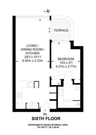 Large floorplan for Principal tower, Shoreditch, EC2A