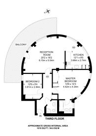 Large floorplan for Dryburgh Road, West Putney, SW15