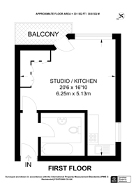 Large floorplan for Sherbourne Court, Earls Court, SW5