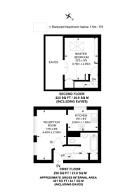 Large floorplan for St Peters Close, Wandsworth Common, SW17