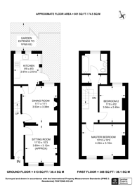 Large floorplan for Oulton Road, Tottenham, N15