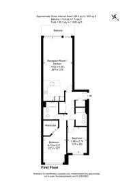 Large floorplan for Queenstown Road, Battersea, SW11
