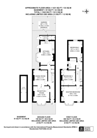 Large floorplan for Gonville Road, Mitcham, CR7
