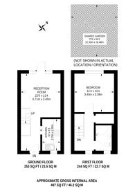 Large floorplan for Hillbury Road, Heaver Estate, SW17