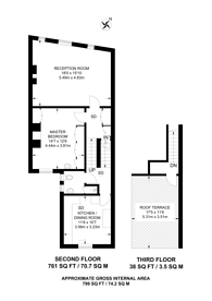 Large floorplan for Fulham Road,, Parsons Green, SW6