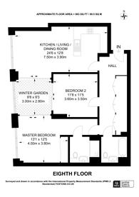 Large floorplan for Arniston Way, Tower Hamlets, E14