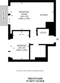 Large floorplan for Pan Peninsula Square, Tower Hamlets, E14