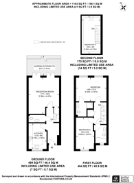 Large floorplan for Bass Mews, East Dulwich, SE22