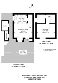 Large floorplan for Willow View, Colliers Wood, SW19