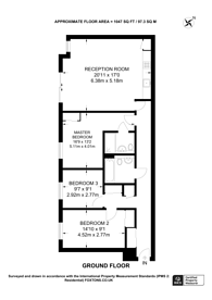 Large floorplan for Marcon Place, Hackney Downs, E8