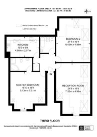 Large floorplan for Overton Road, Sutton, SM2