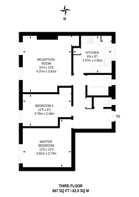 Large floorplan for Thornicroft House, Stockwell, SW9