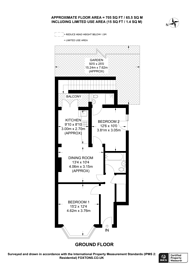 Large floorplan for Wells Drive, Kingsbury, NW9