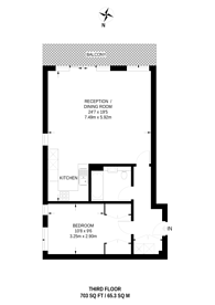Large floorplan for The Brick, Maida Hill, W9