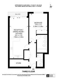 Large floorplan for Palace Place, Westminster, SW1E