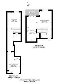 Large floorplan for Verney Road, South Bermondsey, SE16