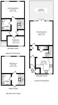 Large floorplan for Ryder Drive, Bermondsey, SE16